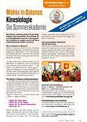 Matrix in Balance Kinesiologie - Die Sommerakademie